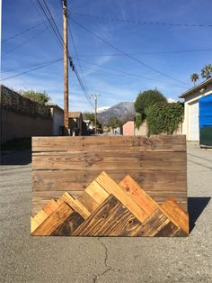 Wood Wall Art - Wooden Mountain Range Art Made to Order or customize this look: This artwork is made up of upcycled wood scraps. Wood was trimmed to size and stained with traditional and hand made stains. The piece features two mountain ranges that stand out from each other based on their color. Most wood is pallet wood and it varies from oak, pine, alder and poplar. The front mountain range is stained a darker color then the second mountain range. Both mountain ranges also come backlit…
