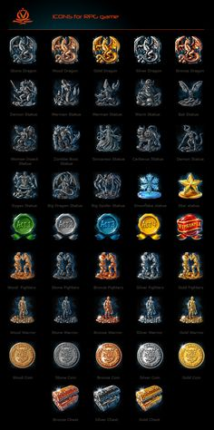 RPG game icons by *vdlm on deviantART