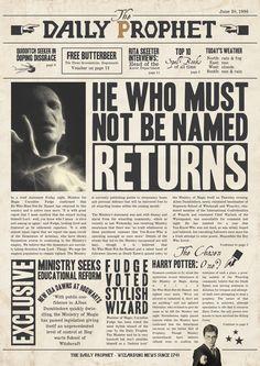 Daily Prophet: He Who Must Not Be Named returns (Full Article) Harry Potter Journal, Harry Potter Poster, Harry Potter Tumblr, Harry Potter World, Harry Potter Sketch, Deco Harry Potter, Mundo Harry Potter, Harry Potter Spells, Harry Potter Halloween