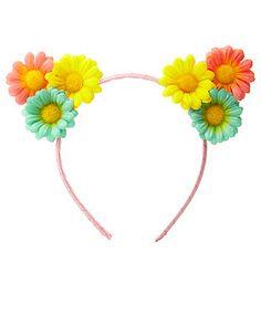 Daisy Cat Ears Headband: Charlotte Russe