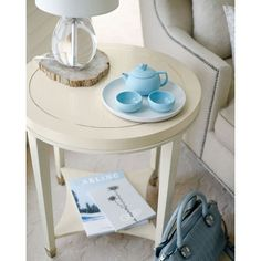 Bernhardt Louie End Table (14 855 UAH) ❤ liked on Polyvore featuring home, furniture, tables, accent tables, pale ivory, bernhardt furniture, shelf furniture, inlaid table, ivory furniture and handmade tables