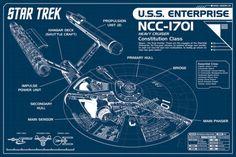 Star Trek Enterprise Blueprint Pôster