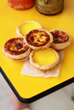 So, so incredibly rich, sweet, delicious! Chinese and Portuguese Style Egg Custard Tarts (I prefer the Portuguese, but both are stellar!). #tarts #egg #custard #Chinese #dessert #food #baking #Portuguese