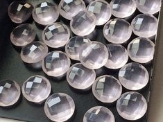 WHOLESALE 10 Pcs Rose Pink Chalcedony Faceted by gemsforjewels