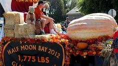 Half Moon Bay Art & Pumpkin Festival is the place to sample all things pumpkin - pie, ice cream, and the year's gourd *muy gordo*. Last year the biggest pumpkin weighed in at 1,775 pounds.