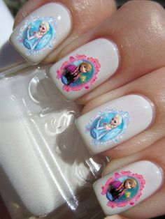 Frozen Elsa And Anna Nail Decals By Pinegalaxy On Etsy 4 50