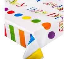 Πλαστικό Τραπεζομάντηλο Happy Birthday 120x180
