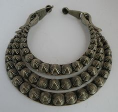 Old Chinese MIAO TRIBE, tribal silver necklace