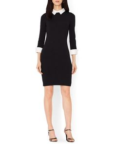 Lauren Ralph Lauren Petites Collared Color Block Dress