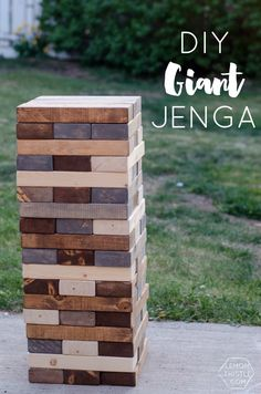 DIY Yard Games- I love this idea! I've seen Jenga but it's so much fun to have options! What a fun party activity to play outside or in the house! This would make a unique Christmas family gift!