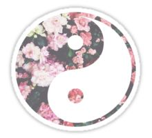 Floral Ying and Yang Sticker