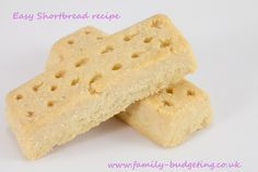 Simple way to make a tasty treat fromm an easy shortbread for a gift or to munch!