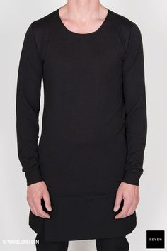Rick Owens ROUND NECK KNIT SWEATER - black 273 € | Seven Shop