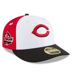 new product 0ed48 f9a56 Men s Cincinnati Reds New Era White Black 2018 MLB All-Star Game On-Field  Low Profile 59FIFTY Fitted Hat