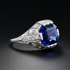 An original Tiffany & Company sapphire ring from the early 20th century.