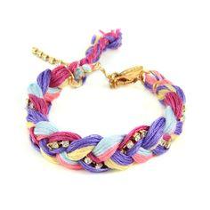 Blush Friendship Thread Braided Bracelet