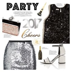 """""""Shimmer Into 2017!"""" by tfashionspeaks ❤ liked on Polyvore featuring Topshop, Hollister Co., Alexander Wang, Marc Jacobs, Letter2Word and Miss Selfridge"""
