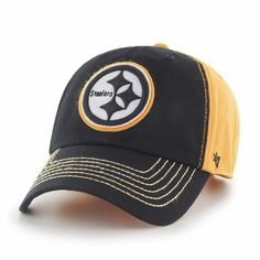 d10921b9c4c Pittsburgh Steelers 47 Brand Slot Back Clean Up Adjustable Hat