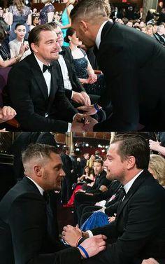 Academy Awards 2016 - Leonardo DiCaprio and Tom Hardy