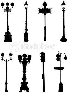 a floor to ceiling street lamp