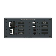 Blue Sea 8599 AC Toggle Source Selector (230V) - 2 Sources + 4 Positions - https://www.boatpartsforless.com/shop/blue-sea-8599-ac-toggle-source-selector-230v-2-sources-4-positions/