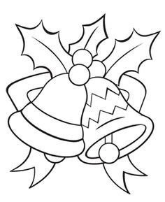 images of coloring pages of bells - Google Search