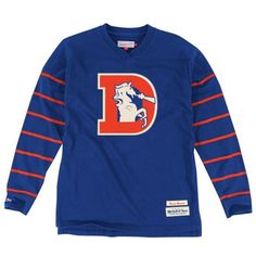 Mitchell & Ness Denver Broncos Royal Blue Cornerback Long Sleeve V-Neck T-Shirt