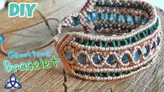 Green Macrame Beaded Bracelet Tutorial - Easy Macrame Craft Idea