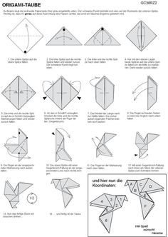 instructions for traditional origami dove - Google Search