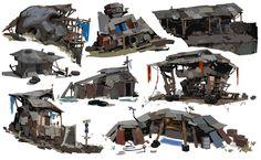 ArtStation - Goliath Shanty Town Callouts, Samuel Youn