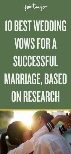 Looking for so wedding vow ideas and inspiration? Check out the 10 best wedding vows, based on research as to what actually works for a successful marriage. Best Wedding Vows, Wedding Vows To Husband, Plan Your Wedding, Perfect Wedding, Wedding Day, Wedding Songs, Wedding Reception, Reception Ideas, Wedding Quotes