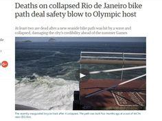 Disso Voce Sabia?: Tragédia em ciclovia mina credibilidade da Rio-2016, diz imprensa internacional