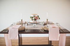 Wildwood Floral Co - blush wedding photo shoot, B&E Photography