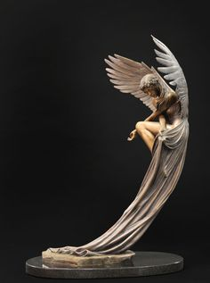 """The Angel, 27"""" x 17"""" x 18"""". Bronze by Benjamin Victor. Available in limited edition. Email bvictor@benjaminvictor.com to purchase. Serious inquiries only please."""