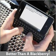 iphone case with keyboard  if you just can't deal with touch pad typing (or have fat fingers)