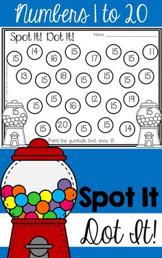 Engaging, fun, hands-on math activities! Just print and add bingo daubers. It's that easy! Students will build their number recognition skills as they work with numbers from 1 to 20. Perfect for small group time, centers, morning work, fast finishers or RTI.