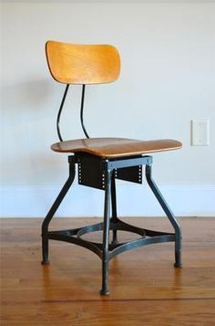 Machine Age Industrial Steampunk Toledo Uhl Domore Drafting Stool Chair Antique | eBay