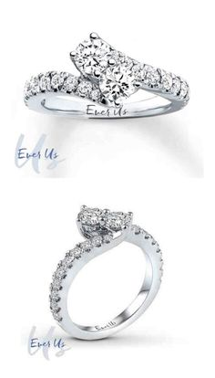 """""""Ever Us"""" ring. One diamond for your best friend and one diamond for your true love. So adorable."""