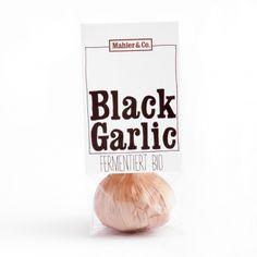 Black Garlic, schwarzer Knoblauch fermentiert 1 Stk - Mahler & Co - Feine Biowaren Black Garlic, Alone, Garlic, Organic Beauty