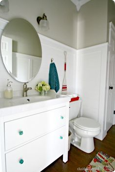 Great Thrifty Decor Chick: Ikea Hemnes Vanity And