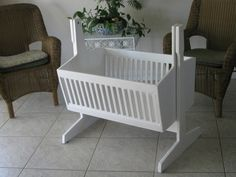Homemade cradle made for our newest grandchild. Good job Poppy! Instructions can be ordered from www.woodstore.net