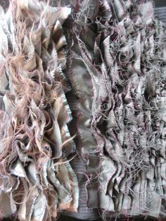 satin ruffles inspired by sea anemones, fabric manipulation