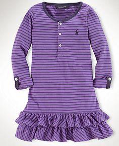 Ralph Lauren Kids Dress, Little Girls Henley Dress - Kids Girls 2-6X - Macy's
