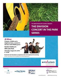 Envision Concert in the Park features JD Miner, 6-8PM, Mill Lake Park