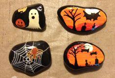 A few more non-Mandala Halloween rocks, just because. Oct. 17, 2017