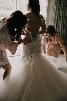 Backless wedding dress inspiration from Cassey Ho at Blogilates. Plan My Wedding, Wedding Dreams, Our Wedding, Dream Wedding, Cassey Ho, Blogilates, Backless Wedding, I Got Married, Bridal Gowns