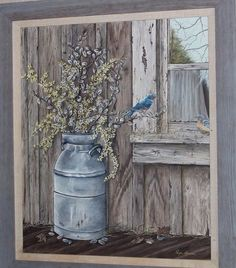 """This is a different perspective of """"Artie's Place""""; also an oil on stretch canvas."""