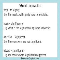 Efl Teaching, Teaching Resources, Word Formation, Word Building, Grammar Rules, Adverbs, Education English, Idioms, English Grammar