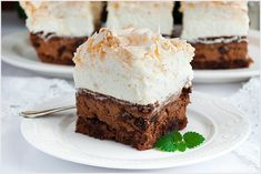 Rafaello na krakersach - I Love Bake German Desserts, Dessert Bars, Kimchi, Baked Goods, Cheesecake, Food And Drink, Nutella, Cooking Recipes, Sweets