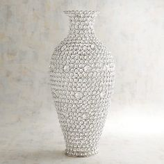 Imagine this: A vase that stuns before you ever even fill it! That's what you can expect from our handcrafted clear gems vase, which shimmers from every angle and can stand alone or play host to dried florals. Mosaic Vase, Mosaic Diy, Mirror Mosaic, Tall Vase Decor, Vases Decor, Glass Ceramic, Glass Vase, Home Decor Bedroom, Living Room Decor